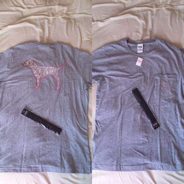 Victoria's Secret PINK Shirt & Headband