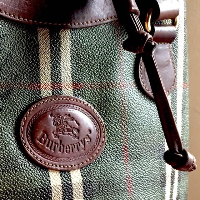 Vintage Burberry Bucket Bag