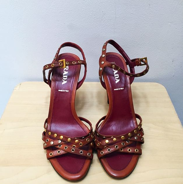 Vintage Prada Studded Heels NEVER BEEN WORN