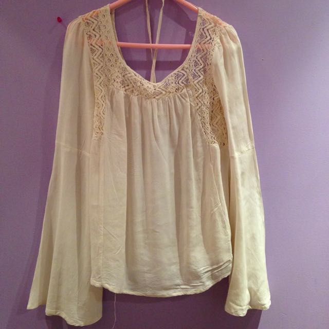 White Boho Long Sleeves