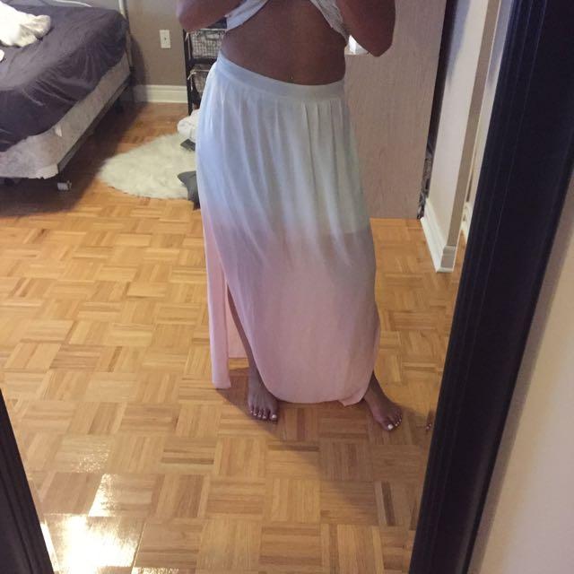 White-pink Skirt