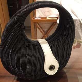 竹編手提包
