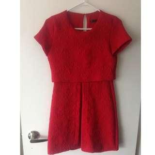 Red Zara dress size small $20