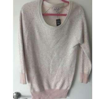 Talula pink/cream cashmere sweater size xxs $20