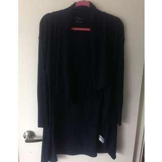 Tahari navy blue sweater Marino wool size small $20