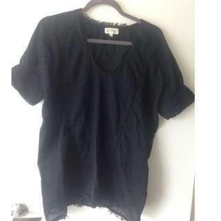 Aritzia black blouse size small $20