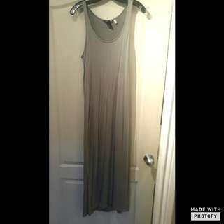 Long Grey Maxi Dress