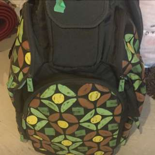 Green And Brown Backpack