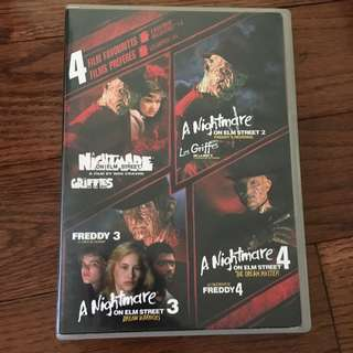 A Nightmare On Elm Street 1,2,3 & 4