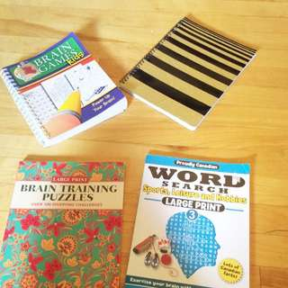Brain Puzzles And Notebook