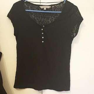 Black T-shirt ( See-through ) Size S