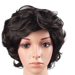 Short Wavy Black Wig