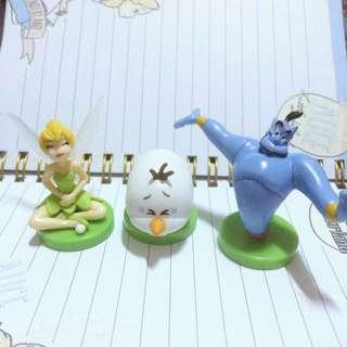 🌸日本帶回 巧克力蛋 公仔 迪士尼 神燈 小精靈 雪寶