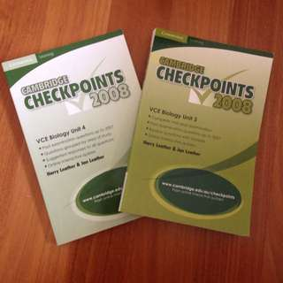 Checkpoints Biology Units 3 And 4 2008