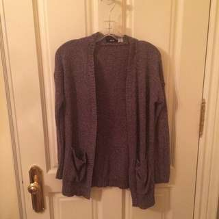 Grey Slouchy Sweater // Small