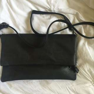 Black Sportsgirl Envelope Clutch
