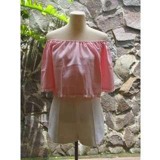 Carisse Pink Off Shoulder