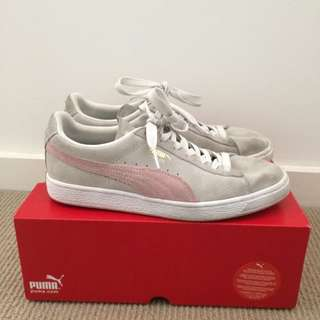 Puma Classics Runners Sneakers Pink And Grey Size 8
