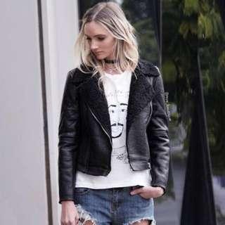 Mve Boutique Leather Jacket SIZE 8