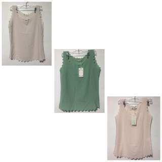 Chiffon Pastel Colours Top - Set Of 3