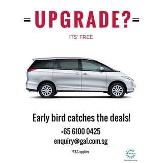 Weekend Car Rental Free Upgrade