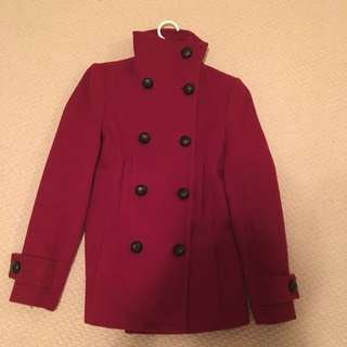 BABATON RED TRENCH COAT