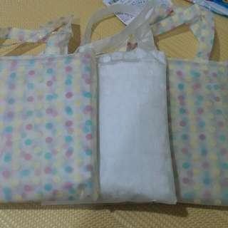 日本超可愛 彩色水玉點點&白色雪花雨衣