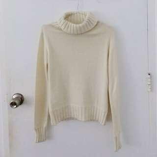 White Turtleneck Pullover