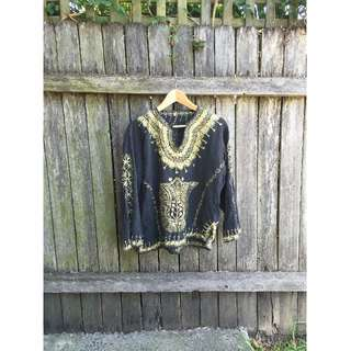 Vintage Gold Embroidered Top