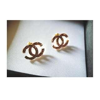 Chanel-Inspired Earrings 18 Karat Gold