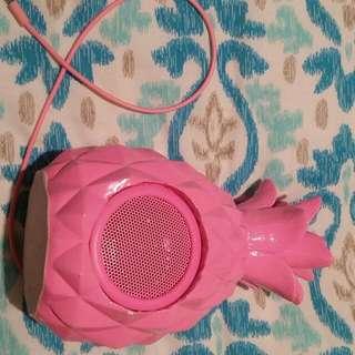Computer Speaker -Pink Pinapple