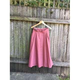 ON HOLD Vintage Pink Maxi Skirt