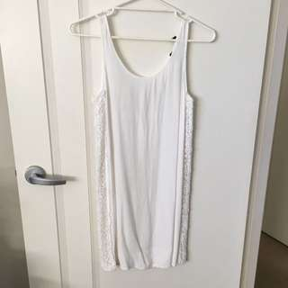 Small Plain White Dress Good Condition