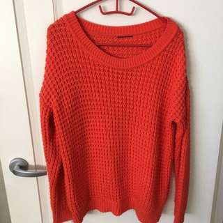 Orange/red Big Throw Jumper