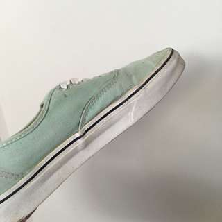 Size 9 Mint Green Authentic Vans