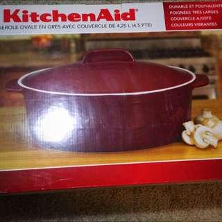 Kitchen Aid Stoneware Casserole With Lid