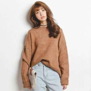 🌟韓版寬鬆素色針織毛衣🌟