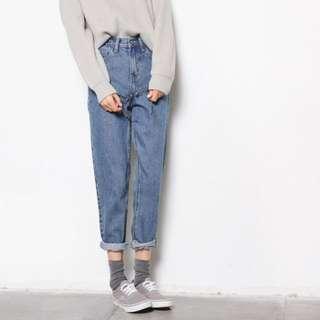 🌟韓國東大門纯色復古牛仔裤🌟