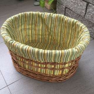 Rattan Basket With Lining