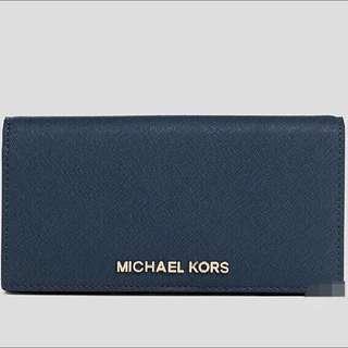 Michael Kors深藍長夾