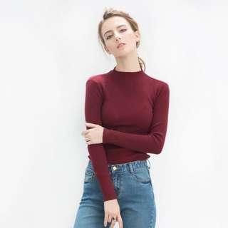 🌟韓版修身圓領針織毛衣🌟