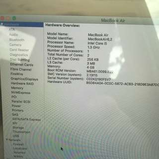"Macbook Air 13"" Mid 2013 i5"