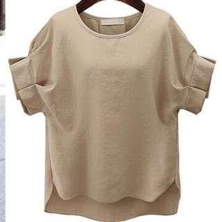New Summer Petal Sleeve O Neck T-Shirt Design