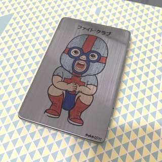 摔角選手鐵製煙盒/名片夾,全新 #轉轉來交換