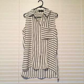 Open Ended Side Stripe Shirt