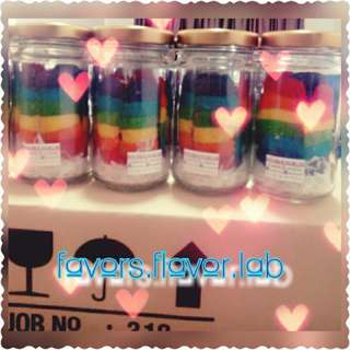 RECENT ORDER - 900 Rainbow Cookies in jar safely delivered to the MR & MRS HAKIM. Wishing this day be the start of the best time of your life.The most heartfelt congratulations to Bride and Groom!