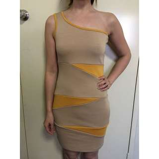 One Shoulder Dress Size S