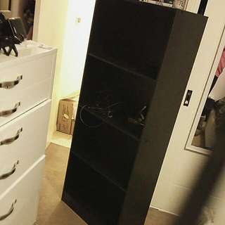 Black Dvd/book Shelf