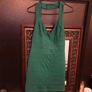BARDOT dress GREEN strechable