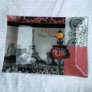 Paris Glass Plate